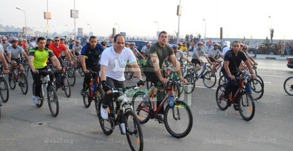 الرئيس-السيسى-ماراثون-الدراجات-4