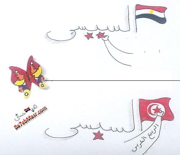 كاريكاتير-فوز-السبسى-انتخابات-رئاسة-تونس-مصر-السيسى-2014