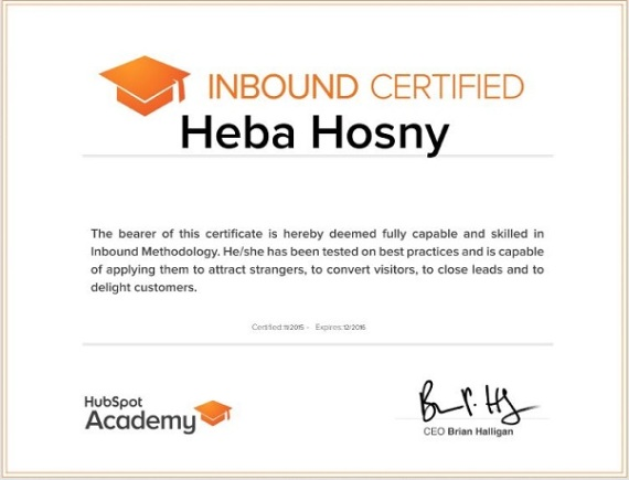 hubspot-inbound-official-certification-heba-hosny-best