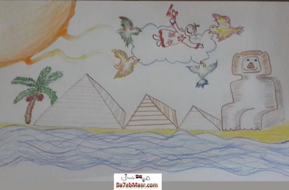 الرسم-الابداعى-يوم-ميلادى-صورة-معبرة-هبة-حسنى
